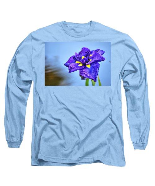 Purple Pond Iris Long Sleeve T-Shirt