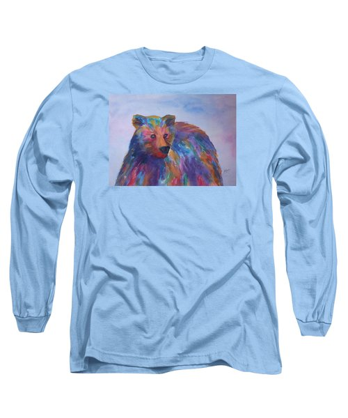 Rainbow Bear Long Sleeve T-Shirt by Ellen Levinson