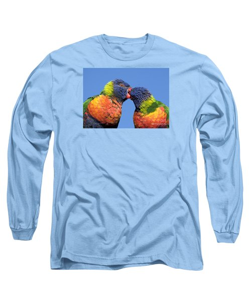 Rainbow Lorikeets Long Sleeve T-Shirt by Steven Ralser