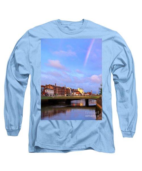 Rainbow Over Cork Long Sleeve T-Shirt by Daniel Heine