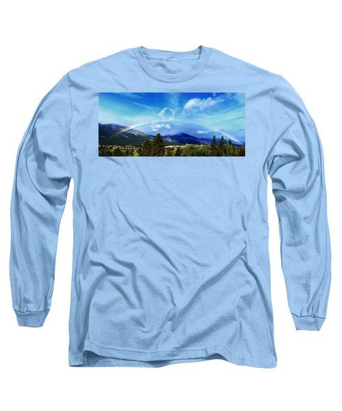 Rainbow Over Hamilton Montana Long Sleeve T-Shirt