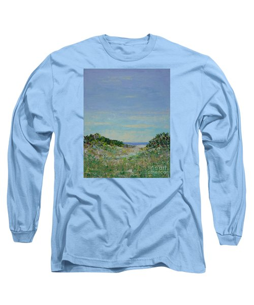 Rainy Day Beach Blues Long Sleeve T-Shirt