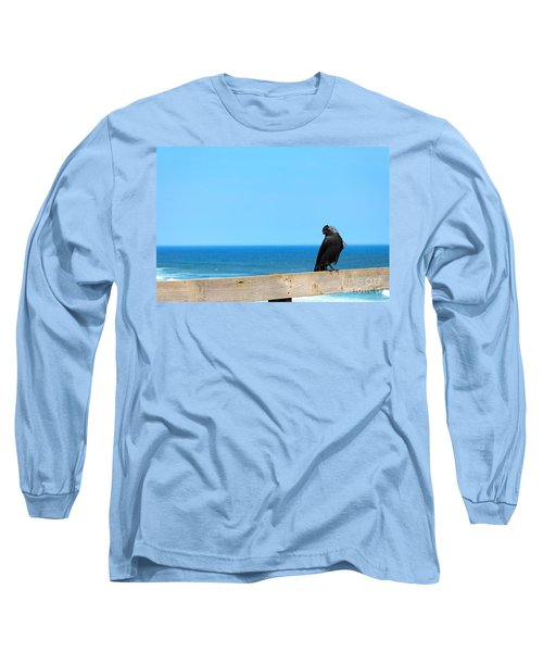 Long Sleeve T-Shirt featuring the photograph Raven Watching by Peta Thames