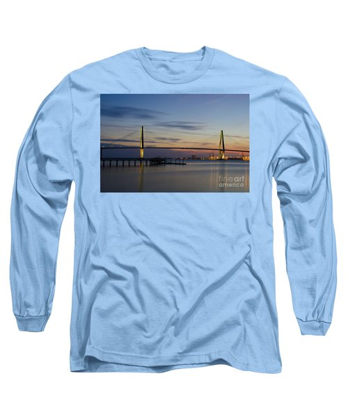 Ravenel Bridge Nightfall Long Sleeve T-Shirt by Dale Powell