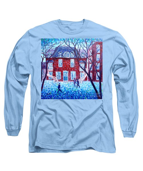 Red House In Montreal - Cityscape Long Sleeve T-Shirt