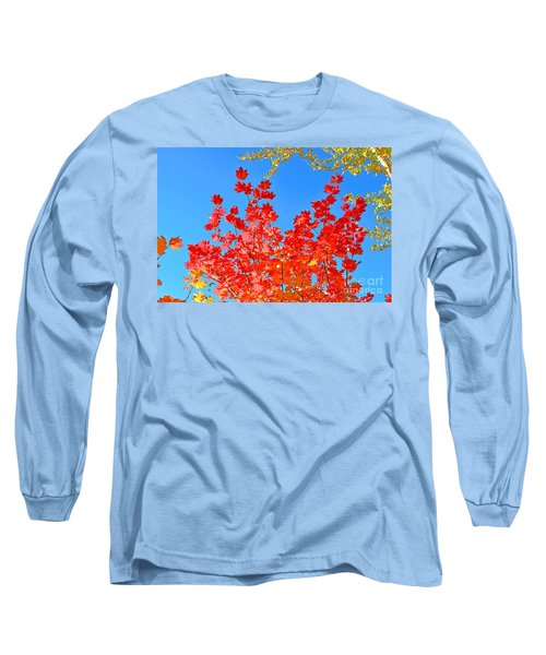 Long Sleeve T-Shirt featuring the photograph Red Leaves by David Lawson