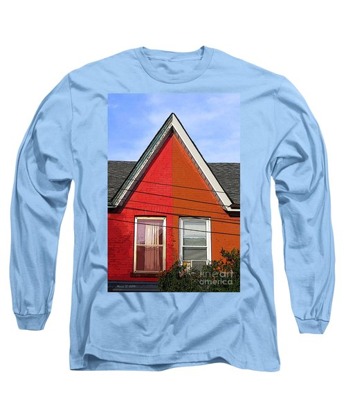 Long Sleeve T-Shirt featuring the photograph Red-orange House by Nina Silver