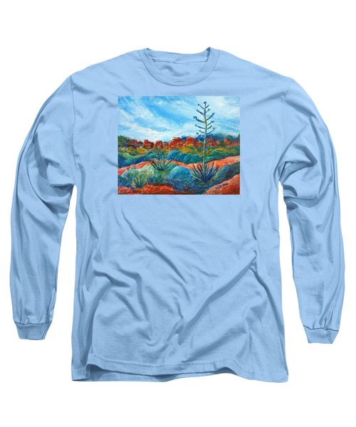 Red Rocks Long Sleeve T-Shirt by Victoria Lakes