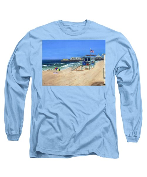 Redondo Beach Lifeguard  Long Sleeve T-Shirt by Jamie Frier