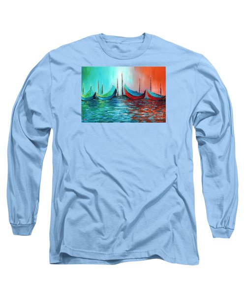 Reflecting Down Long Sleeve T-Shirt