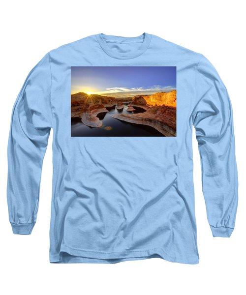 Reflection Canyon Sunrise Long Sleeve T-Shirt by Dustin  LeFevre