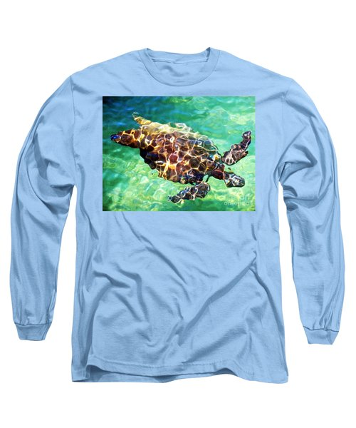 Long Sleeve T-Shirt featuring the photograph Refractions - Nature's Abstract by David Lawson