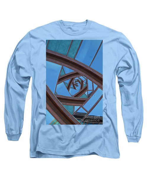 Long Sleeve T-Shirt featuring the photograph Revolving Blues. by Clare Bambers