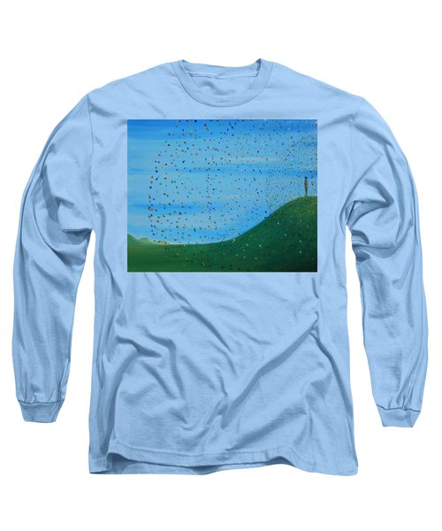 Ripples Of Life 2 Long Sleeve T-Shirt by Tim Mullaney