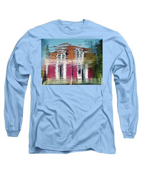 Long Sleeve T-Shirt featuring the photograph River House by Luc Van de Steeg