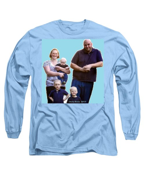 Long Sleeve T-Shirt featuring the painting Robert Nutting Family by Bruce Nutting