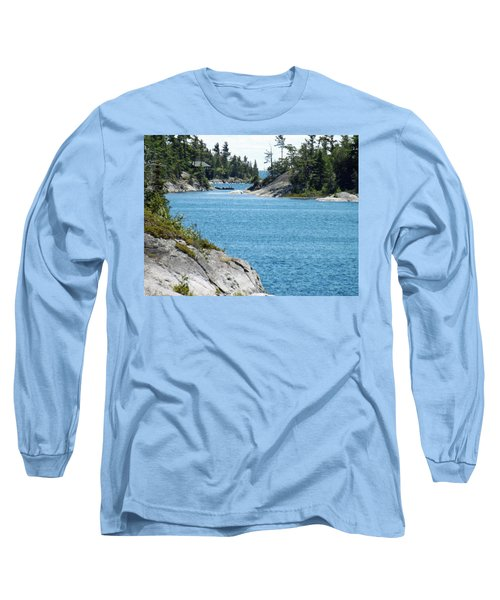 Rocks And Water Paradise Long Sleeve T-Shirt