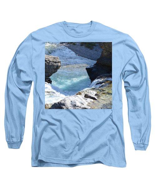 Elbow Falls Water  1.1 Long Sleeve T-Shirt