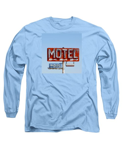 Route 66 Motel Sign Long Sleeve T-Shirt by Art Block Collections
