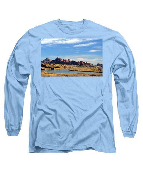 Route 66 Needles Mtn Range Two  Sold Long Sleeve T-Shirt by Antonia Citrino