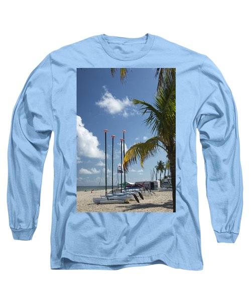 Row Of Sailboats Long Sleeve T-Shirt