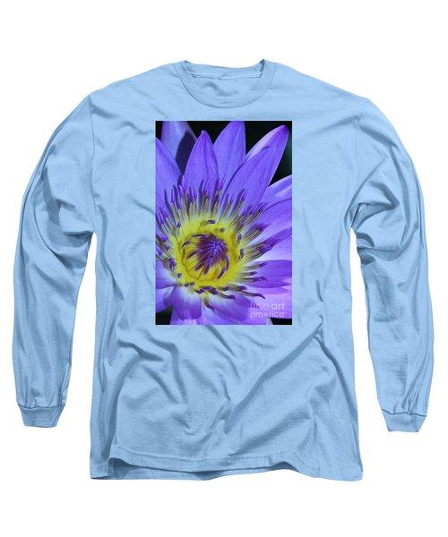 Royal Purple Water Lily #11 Long Sleeve T-Shirt