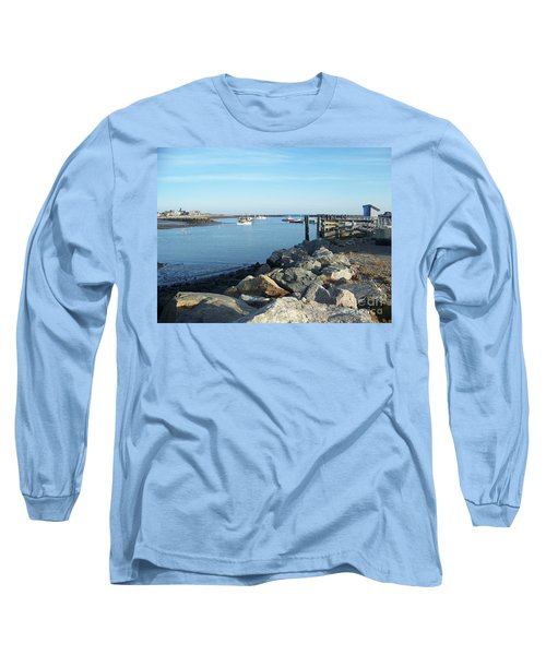 Long Sleeve T-Shirt featuring the photograph Rye Harbor  by Eunice Miller