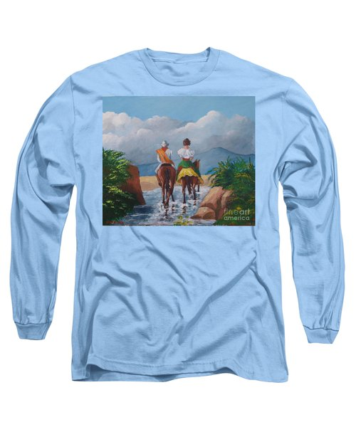 Sabanero And Wife Crossing A River Long Sleeve T-Shirt