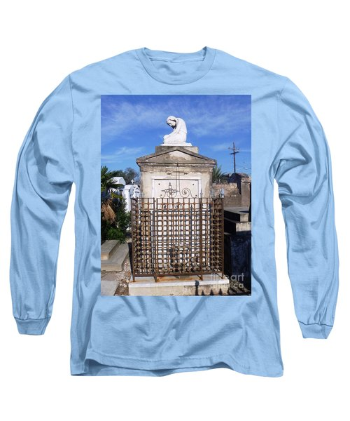 Long Sleeve T-Shirt featuring the photograph Saddest Statue Tomb by Alys Caviness-Gober