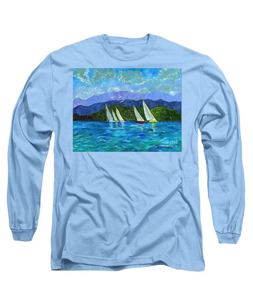 Sailing Long Sleeve T-Shirt by Laura Forde