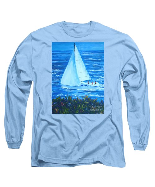 Sailing Off The Coast Long Sleeve T-Shirt