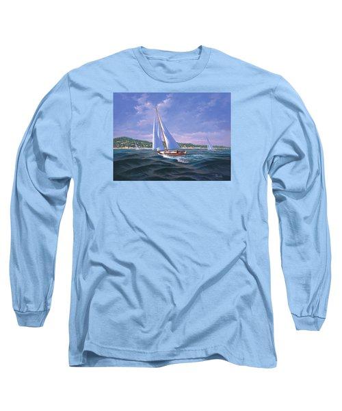 Sailing On Monterey Bay Long Sleeve T-Shirt