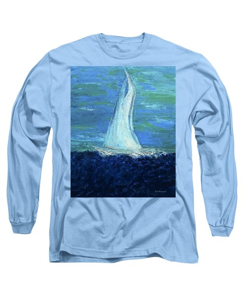 Sailing On The Blue Long Sleeve T-Shirt by Dick Bourgault