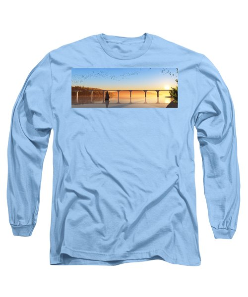 Sailing Out To Sea... Long Sleeve T-Shirt by Tim Fillingim