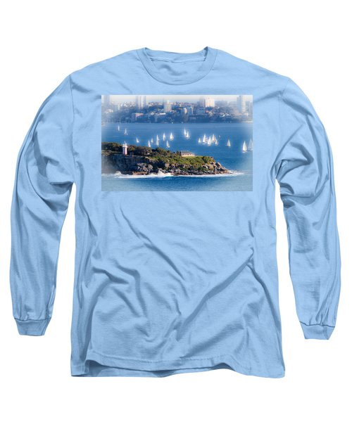 Long Sleeve T-Shirt featuring the photograph Sails Out To Play by Miroslava Jurcik