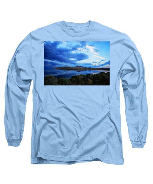 Salt Lake Antelope Island Long Sleeve T-Shirt by Matt Harang