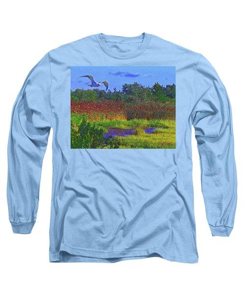 Salt Marsh Gull Long Sleeve T-Shirt