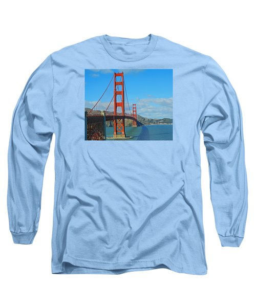 San Francisco's Golden Gate Bridge Long Sleeve T-Shirt by Emmy Marie Vickers
