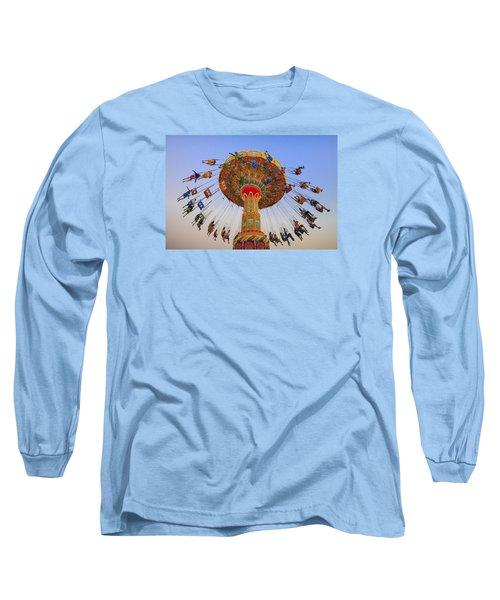 Santa Cruz Seaswing At Sunset 9 Long Sleeve T-Shirt