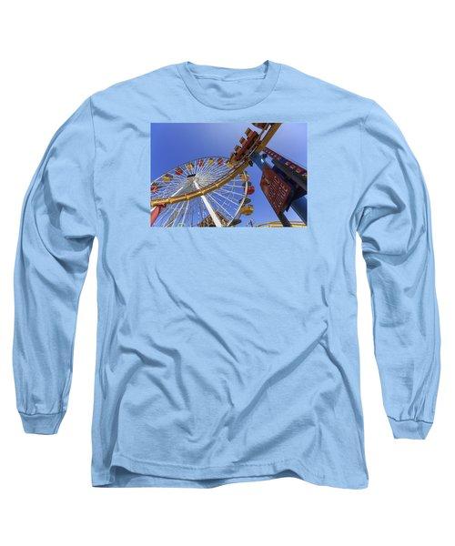 Santa Monica Pier Pacific Plunge Long Sleeve T-Shirt