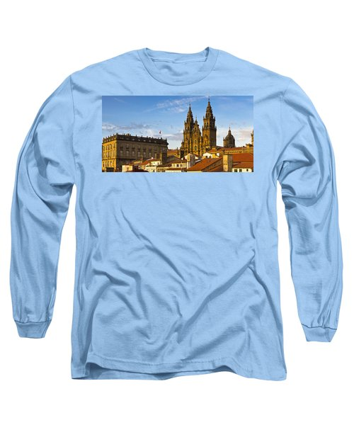 Long Sleeve T-Shirt featuring the photograph Santiago De Compostela Cathedral Galicia Spain by Pablo Avanzini