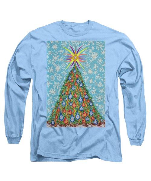Sapin Noel Long Sleeve T-Shirt by Robert SORENSEN