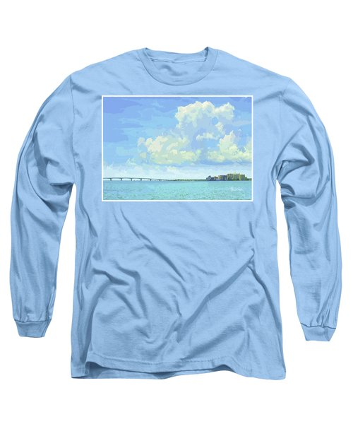 Sarasota Skyline From Sarasota Bay Long Sleeve T-Shirt