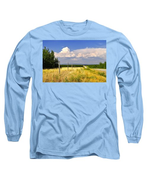 Long Sleeve T-Shirt featuring the photograph Sawmill Creek Road by Cathy Mahnke