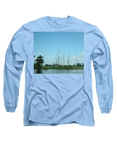 Long Sleeve T-Shirt featuring the photograph Scenic Swamp Cypress Trees by Joseph Baril