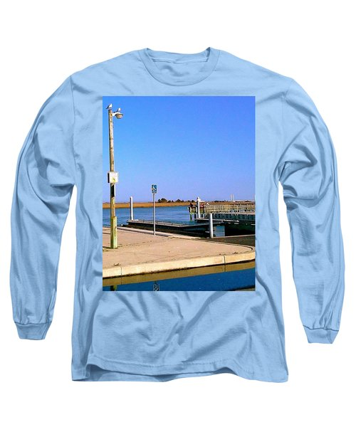 Long Sleeve T-Shirt featuring the photograph Sea Gulls Watching Over The Wetlands by Amazing Photographs AKA Christian Wilson