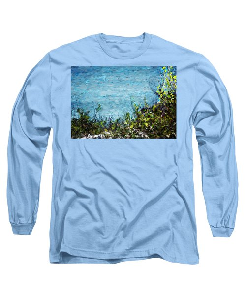 Long Sleeve T-Shirt featuring the digital art Sea Shore 1 by David Lane