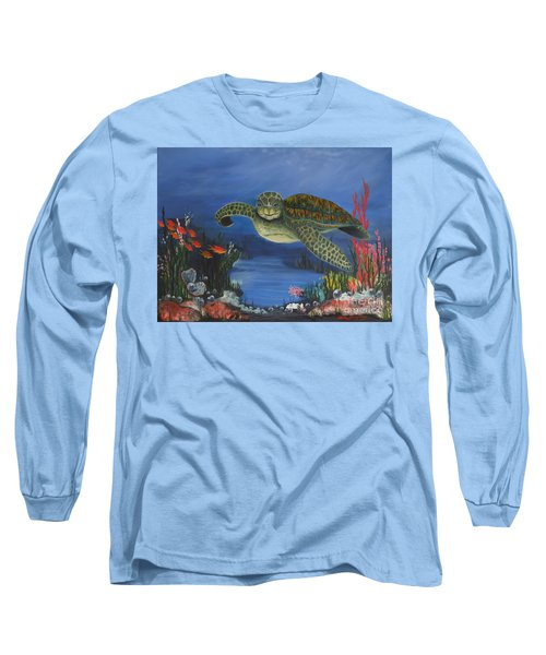 Sea Turtle In Paradise Long Sleeve T-Shirt