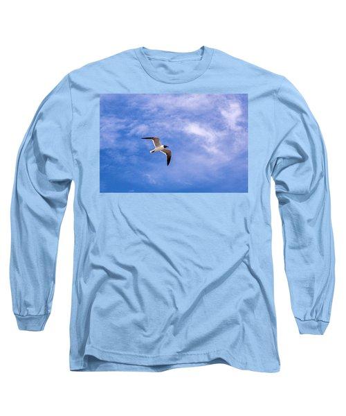 Long Sleeve T-Shirt featuring the photograph Seagull by Sennie Pierson