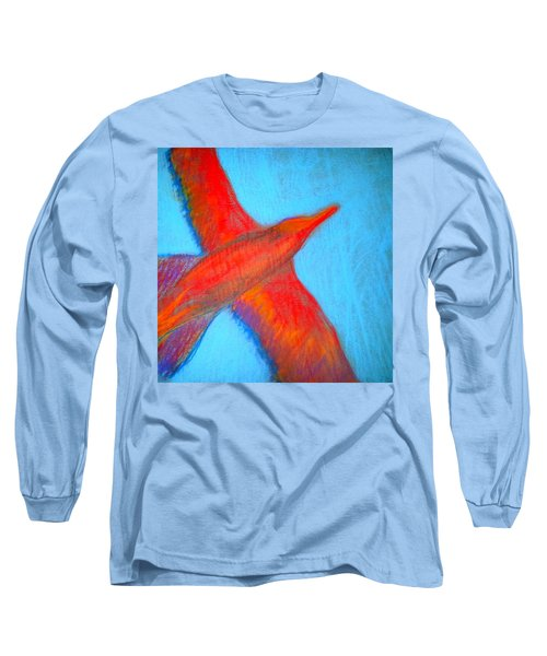 Seagull Silhouette Long Sleeve T-Shirt